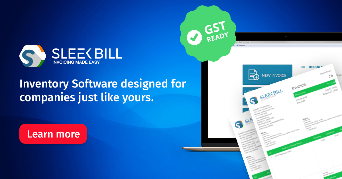 Free Inventory Management Software | Sleek Bill India