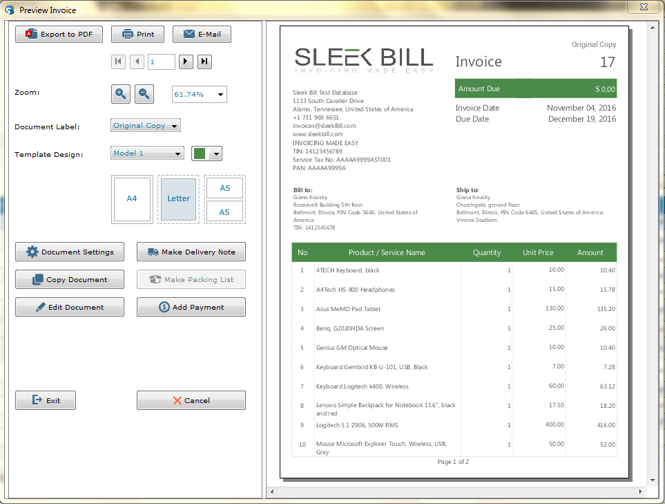 Free Billing Software GST Invoice India - Create free invoice template online grocery store